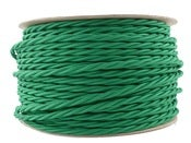 Image of PEA GREEN | fabric lighting flex cable | TWIST 