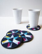 Image of Kaleidoscope Coaster Set Blue