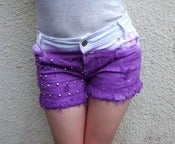 Image of 'Violet Dreams' Distressed Shorts