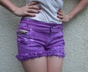 Image of 'Violet Visions' Distressed Shorts