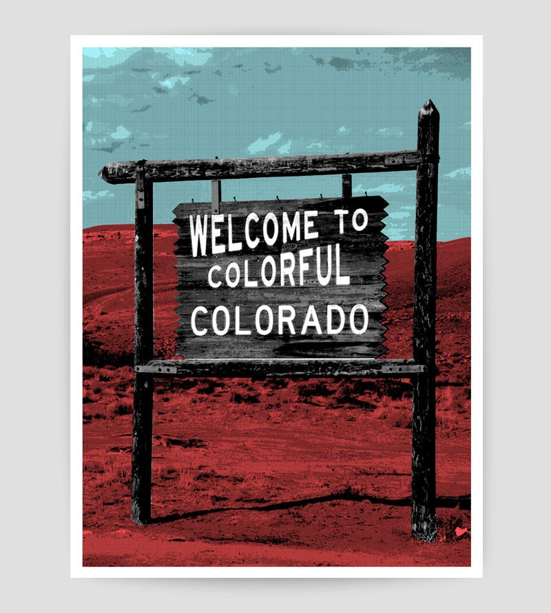 Image of Welcome to Colorado Silkscreen print - LastLeaf Printing