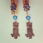 Image of WISE OWL EARRINGS