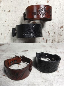 Image of Custom Geniue Leather Cuff with YOUR Logo or Design