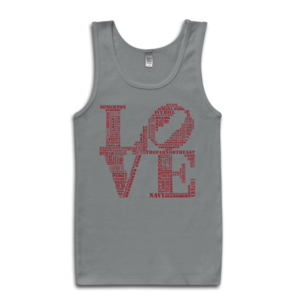 Image of Classic LOVE Tank (Grey/Red)