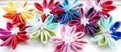 Image of Ombre Headpiece / Fascinator / Brooch - Ombre Kanzashi Flower - Choose your colour
