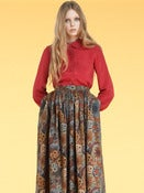 Image of AW11 Lula's Silk Birdie shirt in Red