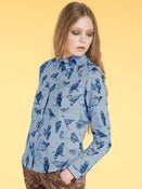 Image of AW11 Pixie's Bird a day shirt Blue