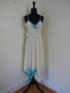 Image of Lizzy &amp; Johnny handpainted strappy dress