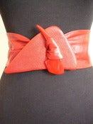 Image of 80s wide red leather belt 