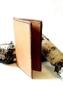 Image of Slim Suit Wallet for Men. Leather Wallet Handmade in America
