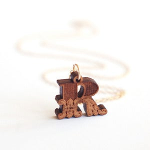 Image of Mini Theatrical Initial Necklace