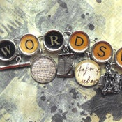 Image of Wordsmith Charm Bracelet Writers Authors Jewelry