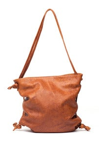Image of THE ONLY - Drawstring Buffalo Leather Bag