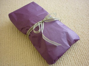 Image of Gift Wrapping with Greeting Card