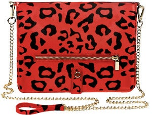 Image of Polly - Leopard Print in Coral