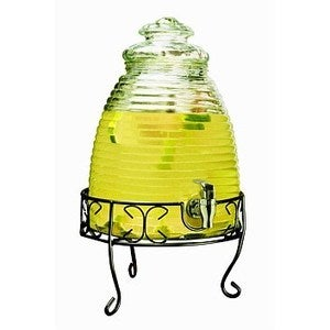 Image of Beehive Glass Drink Dispensers