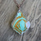 Image of petal drop necklace - french cut 287 *SOLD*