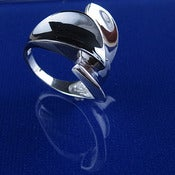 Rhodium Plated Sterling Silver Ring_M1194