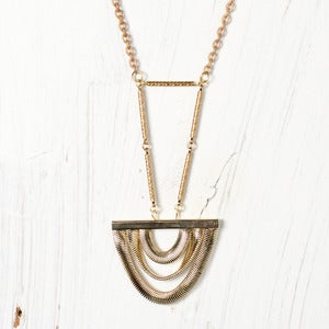 Image of Limited Edition Art Deco Pendant Necklace