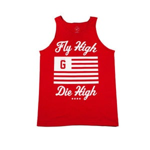 Image of Fly High Die High Tank in Cardinal Red 