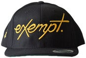 Image of Cursive Logo Snap Back Hat - Gold