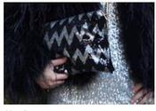 Image of Aztec Sequin Clutch/handbag