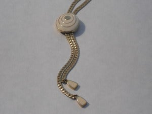 Image of Trifari Lariat Slide Necklace w/ Circular Medallion