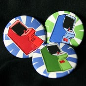 Image of Retro arcade cabinet button