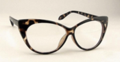 Image of Vintage Style Leopard Print Cat Eyes Glasses