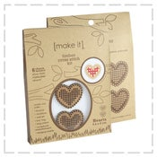 Image of Timber Love Heart Cross Stitch Kit