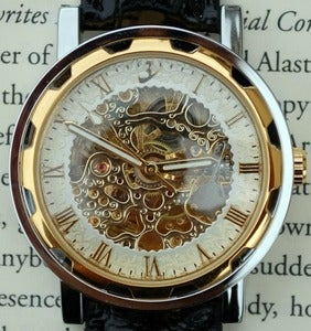 Image of Gold and Ivory Wind-Up Wrist Watch