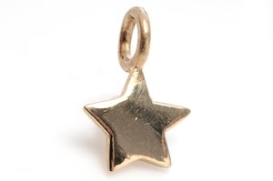 Image of 14kt Gold Mini Star Charm