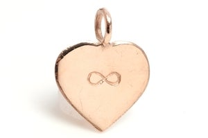 Image of 14kt Rose Gold Infinite Love charm