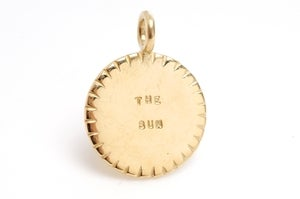 Image of 14kt Gold The Sun Charm