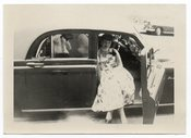 Image of PHOTOGRAPHER'S REFLECTION IN CAR WINDOW VINTAGE SNAPSHOT PHOTO