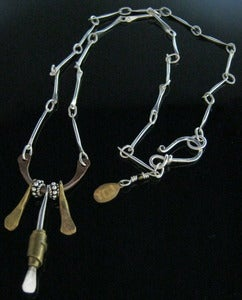 Image of Sterling Necklace w/3 Dangles