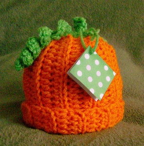 Image of Black Victory - Crocheted Pumpkin Hat