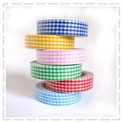 Image of Gingham fabric Tapes