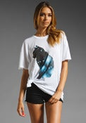 "Image of Wildfox ""Galaxy Cat"" Donovan Tee in Clean White"