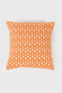 Image of Tangerine Knit Knit Cushion