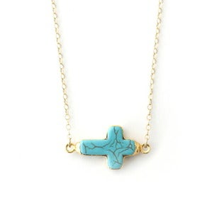 Image of Stone Cross Necklace
