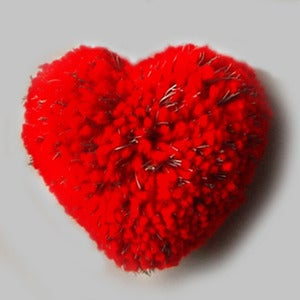 Image of HEART POMPOM BROOCH <br> LFLECT REFLECTIVE