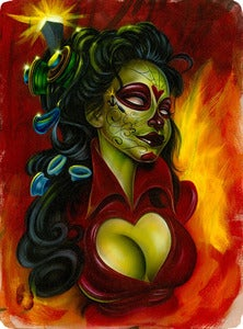 Image of &quot;Electric Day of the Dead&quot; Mini Print by Joe Capobianco