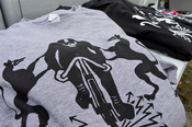 Image of STANRIDGE GHOST RIDER EMBLEM TEES - BLACK ON GREY