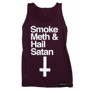 Image of Smoke Meth & Hail Satan Cranberry Tank