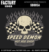 Image of Speed Demon skull & flames 001 - SD005A