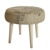 Image of Footstool -Recycled Coffee Sack