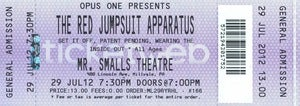 Image of Tix: 7/29 @ Mr. Smalls with RED JUMPSUIT APPARATUS - Free shipping