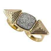 Image of Cleo Ring - Silver Druzy