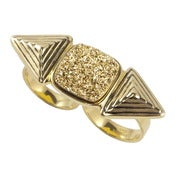 Image of Cleo Ring - Gold Druzy